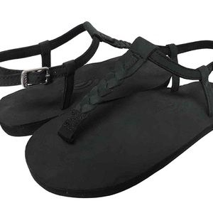 Rainbow Sandals (black) 9 to 9.5